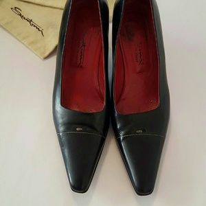 santoni Shoes - Gorgeous SANTONI kitten heel pumps 8