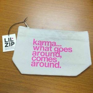 Dogeared brand Karma Lil' Zip Pouch NWT