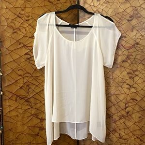 BCBG Max Azria Silk Sheer Top