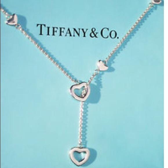 d143aa3c82c0 Authentic Tiffany open heart lariat necklace. M 56aa4d0a6e3ec25fb7001b59
