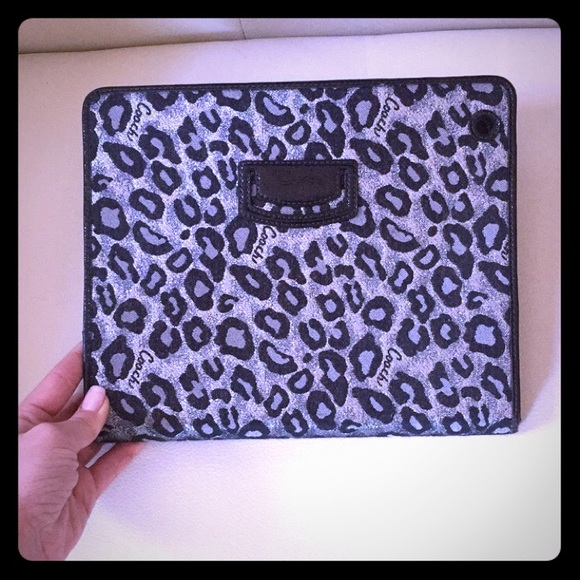 Coach Accessories - Coach leopard iPad 2/3 case.