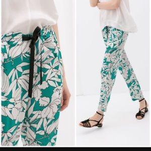 Zara Pants - Zara Palazzo Printed Floral Trousers