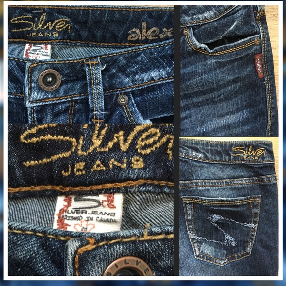 Silver Jeans - 26/35 Silver Western Glove Works alex CA 00508 from ...