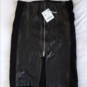 Zara leather skirt brand new with tags