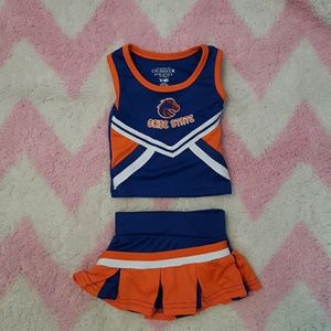 3/6 Month Boise state Cheerleading outfit