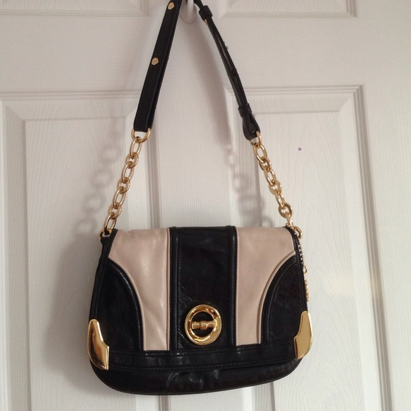 24f6628969ae Milly black and white shoulder bag