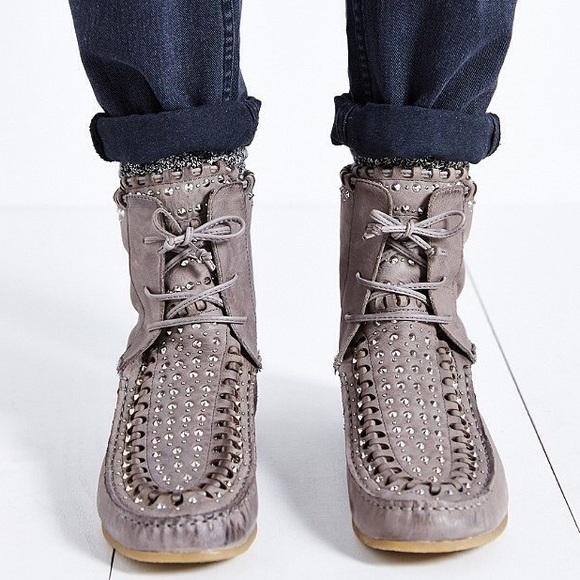 86e96a76f Sam Edelman Studded Moccasin Boots