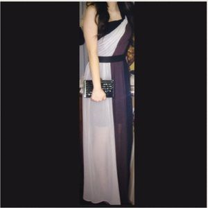 Max & Cleo Dresses & Skirts - Black and purple maxi dress / gown