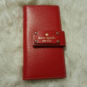 Kate spade Wellesley red wallet