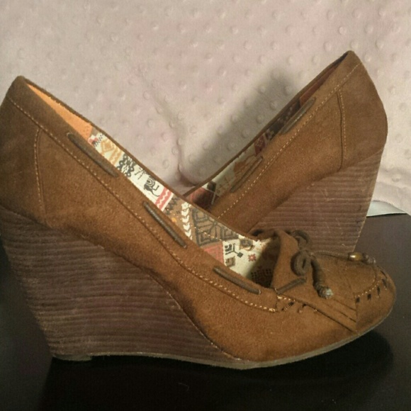 41da84308f7 Bakers Shoes - Bakers Moccasin Wedges. 4