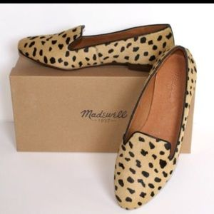 ⛔️SOLD⛔️ MADEWELL Teddy Loafers, Leopard Calf Hair