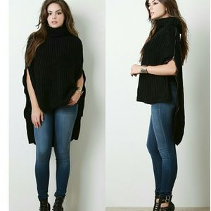 Sweaters - Sweater Poncho also comes in Olive green