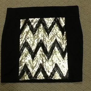 Maurices Dresses & Skirts - Maurice's- Black & Gold Sequin Skirt