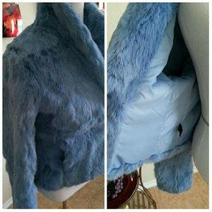 Express Jackets & Coats - Beautiful VTG Baby Blue Fur Jacket