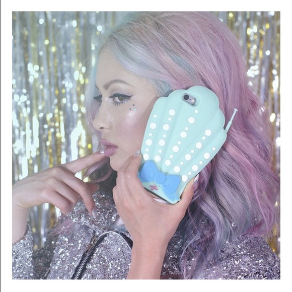 3D Shell Mermaid Silicon Case for iPhone 6S NWT