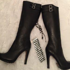 NEW Rachel Zoe black heeled boots 9