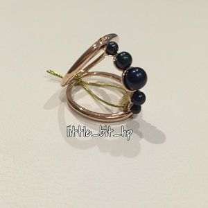 Colette Malouf Jewelry - Colette Malouf Rose Gold Vermeil Pearl Sphere Ring