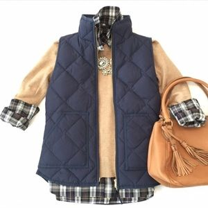j.crew factory | quilted puffer vest.