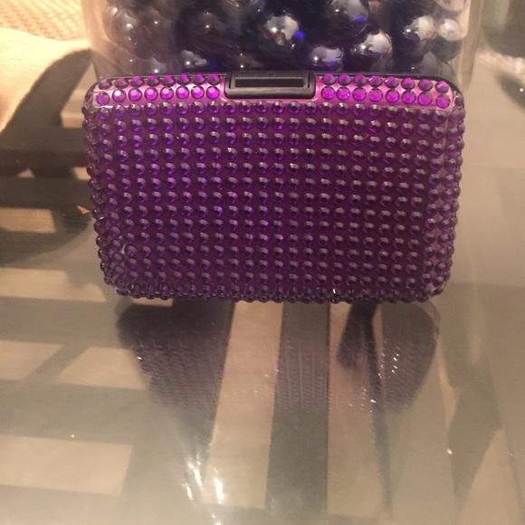 New pink jeweled lumi wallet