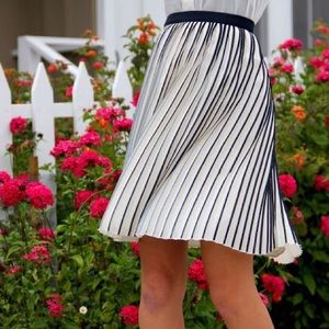 {j. crew} 🌿 sunburst accordion pleat skirt