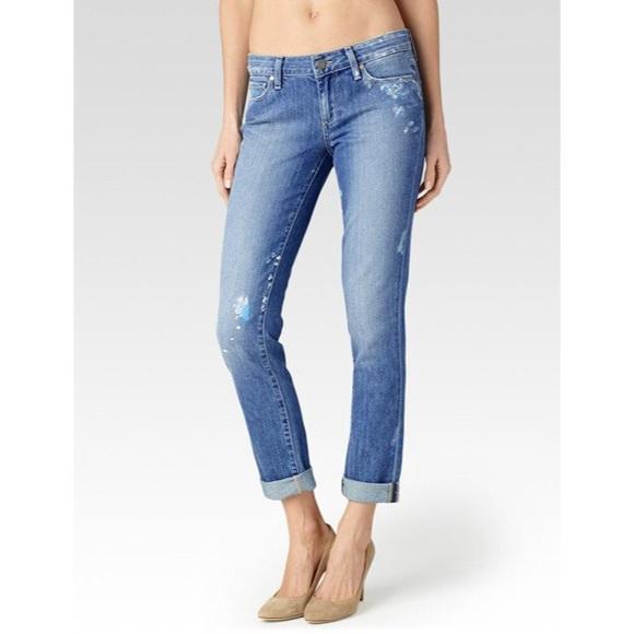 e07cdb18d861f PAIGE Jeans | Jimmy Skinny Boyfriend Paint Splatter | Poshmark