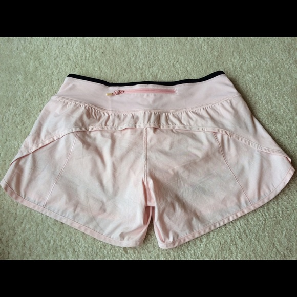 Lululemon Athletica Shorts Lululemon Light Pink Turbo Size 4 Poshmark