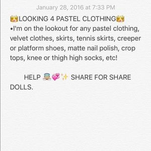 🎀 ISO PASTEL CLOTHING 🎀