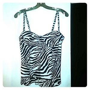 Zebra Print Corset Top