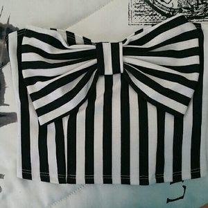 PacSun LA Hearts striped crop top