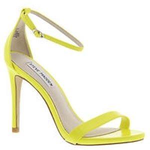 Neon Yellow Open Toe Heels | Tsaa Heel