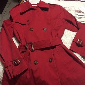Jackets & Blazers - Red Pea coat