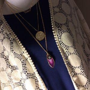 Jewelry - •agate slice pendant•