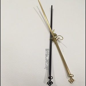 Colette Malouf Accessories - Colette Malouf Metal Hair Stick with CM Icon