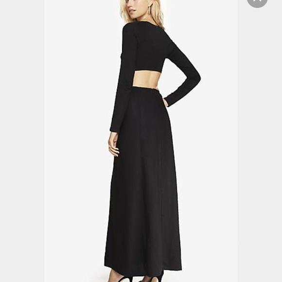 d53e1734a91 Express Long Sleeve Cutout Maxi Dress. M_56aaf0434127d0b046006f36
