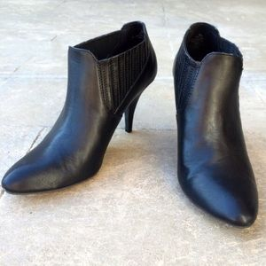 a.n.a Shoes - Black Chelsea Booties Boots Heels