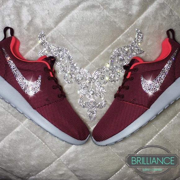 Swarovski Nike Roshe One Burgundy Premium Running