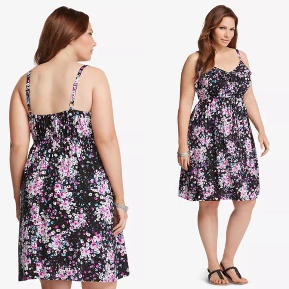 d7226ef9a44 Torrid Floral Ruffled Challis Sundress Plus Size 3