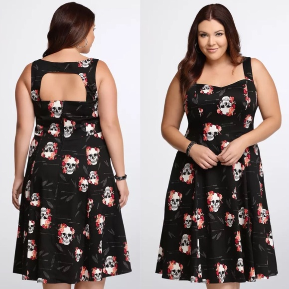 36% off torrid Dresses & Skirts - Torrid Skull Swing Dress Plus ...