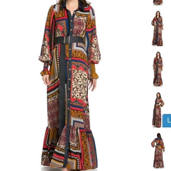 5ce7f8b4747 Designer TOV Holy clothing patchwork dress. Boutique.  M_56ab1f046d64bc8b75009fb6. M_56ab1f09ea99a6afea009fe3