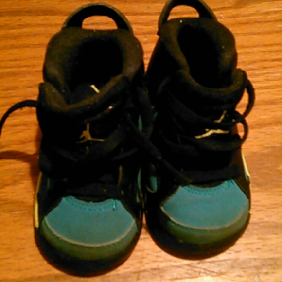 Jordan TODDLER S 4C BLACK & TEAL AIR JORDAN SHOES from