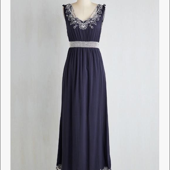 Sunny Girl Dresses Embroidered Maxi Dress Poshmark