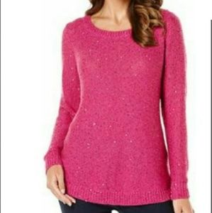 Sequins pull over sweater