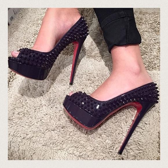 b138ed4b61f8 Christian Louboutin Shoes - Purple Lady Peep Spikes