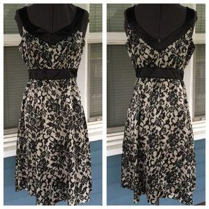 Romy Dresses & Skirts - ROMY B&W Floral Satin Dress