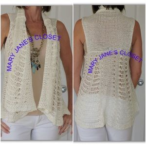 Sweaters - Ivory cardi S/M or M/L combo