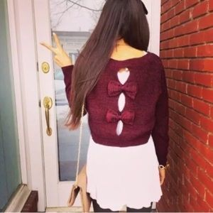 Millau | bow sweater maroon burgundy