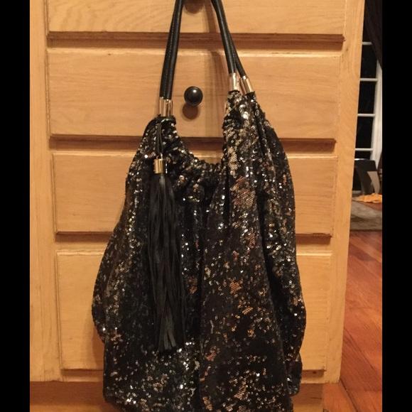 672b87fae91 Steve Madden black sequin hobo bag. Bling! M 56abaf0a6a58304d9f004871