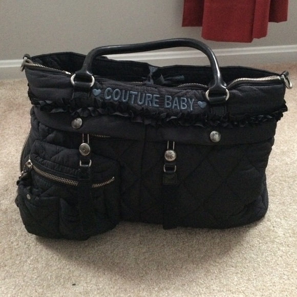 Juicy Couture - Juicy couture quilted diaper bag from Megan's ... : black quilted diaper bag - Adamdwight.com