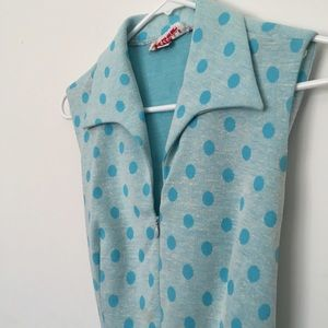 Vintage blue polka dot 50's dress