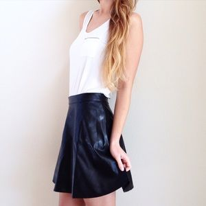 | new | black skater skirt